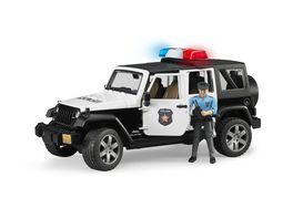 BRUDER Jeep Wrangler Unlimited Rubicon Polizeifahrzeug mit Polizist