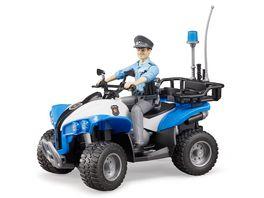 BRUDER Polizei Quad mit Polizist und Ausstattung 63010