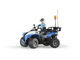 BRUDER Polizei Quad mit Polizistin und Ausstattung 63010