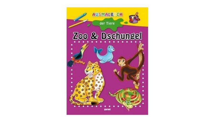Buch garant Verlag Malbuch Zoo und Dschungel