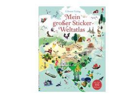 Buch Usborne Verlag Mein grosser Sticker Weltatlas