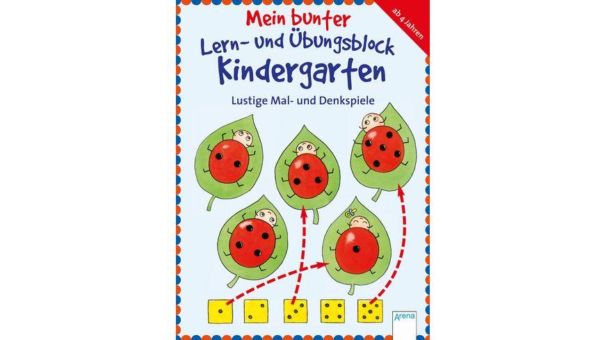 Buch Arena Verlag Mein bunter Lern und Uebungsblock Kindergarten Lustige Mal und Denkspiele