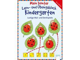 Arena Verlag Mein bunter Lern und Uebungsblock Kindergarten Lustige Mal und Denkspiele