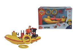 Simba Feuerwehrmann Sam Neptune Boot mit Figur