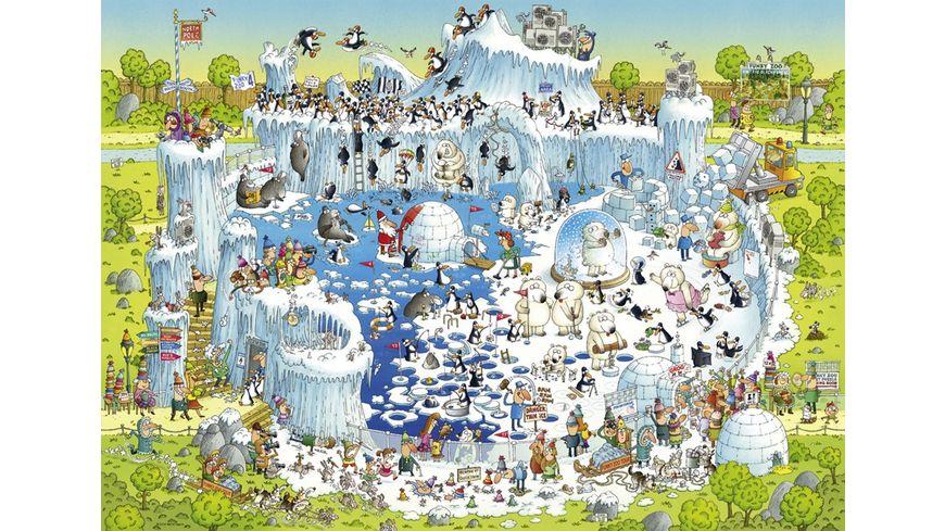 Heye Standardpuzzle 1000 Teile Degano Zoo Polar Habitat