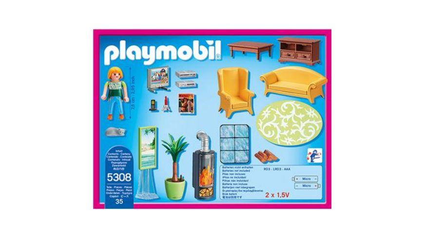 PLAYMOBIL 5308 Dollhouse Wohnzimmer mit Kaminofen