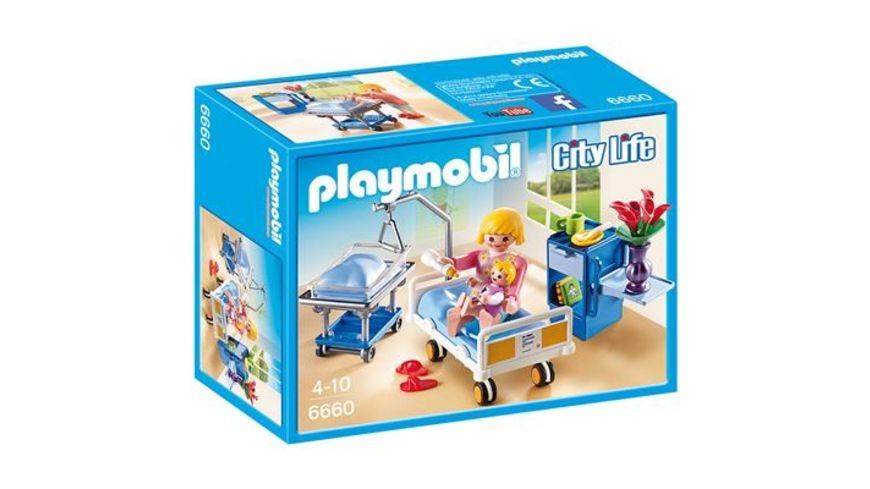 PLAYMOBIL 6660 City Life Krankenzimmer mit Babybett