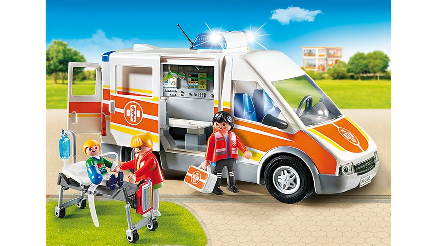PLAYMOBIL 6685 City Life Krankenwagen mit Licht und Sound