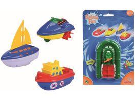 Simba Aufzieh Miniboote 4 sortiert