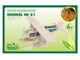 Weico 80149 He 51 Heinkel Holzbausatz mit Solar