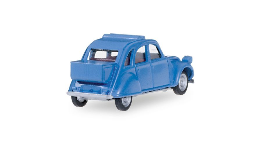 Herpa 027632 Citroen 2 CV mit Queue brillantblau