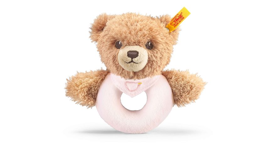 Steiff Babywelt Spielzeug Greifringe Rasseln Schlaf gut Baer Greifring mit Rassel rosa 12cm