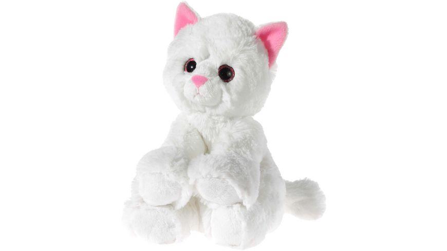 Heunec Friends4ever Glitter Kitty Katzen Baby weiss 24cm