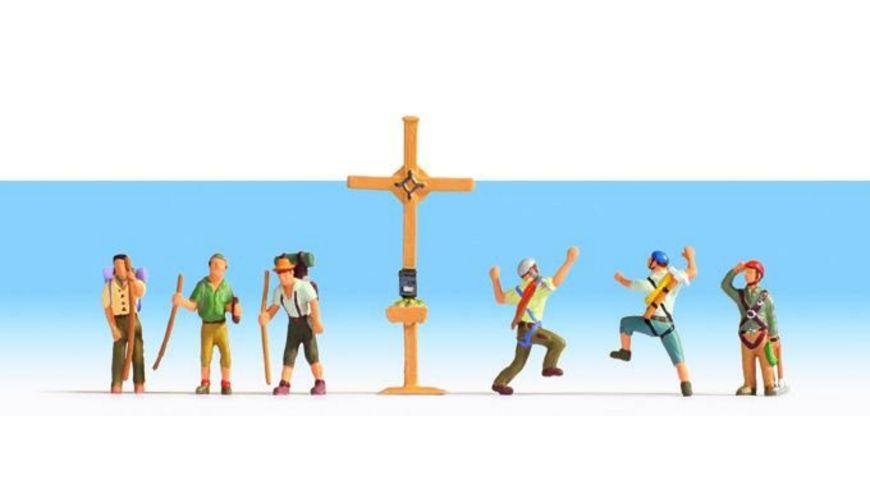 NOCH N 36874 Bergwanderer mit Gipfelkreuz 6 Figuren Kreuz