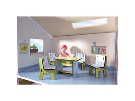 HABA Little Friends Puppenhaus Moebel Esszimmer