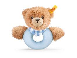 Steiff Babywelt Spielzeug Greifringe Rasseln Schlaf gut Baer Greifring mit Rassel blau 12cm