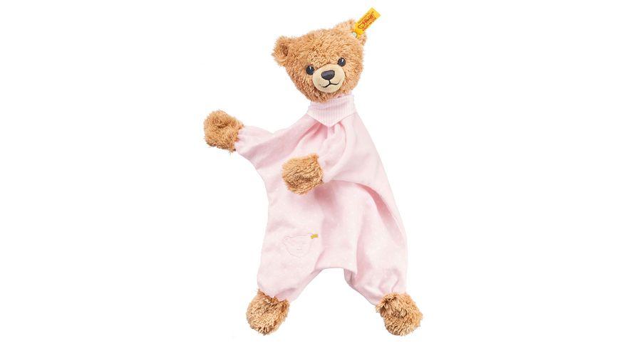 Steiff - Schlaf-gut-Bär Schmusetuch, rosa, 30cm