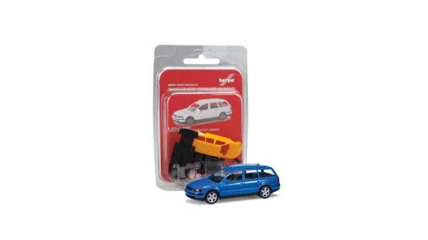 Herpa 012249 004 MiniKit VW Passat Variant signalblau