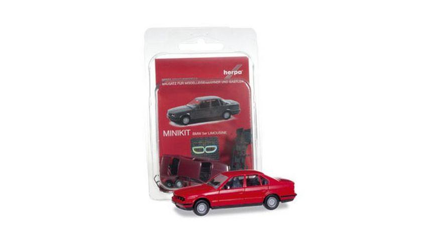 Herpa 012201 004 MiniKit BMW 5er Limousine feuerrot