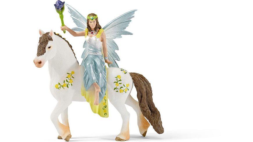 Schleich bayala Eyela in festlicher Kleidung reitend