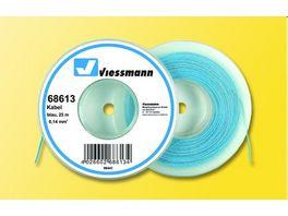 Viessmann 68613 Kabel auf Abrollspule 0 14 mm blau 25 m