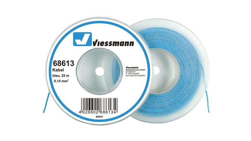 Viessmann - Kabel auf Abrollspule, 0,14 mm², blau, 25 m