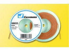 Viessmann 68653 Kabel auf Abrollspule 0 14 mm braun 25 m