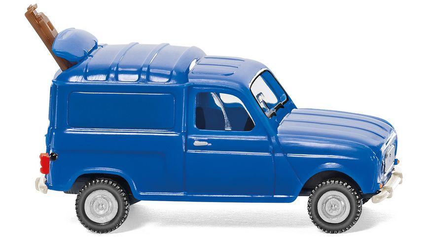 WIKING 022502 Renault R4 Kastenwagen mit Leiter blau