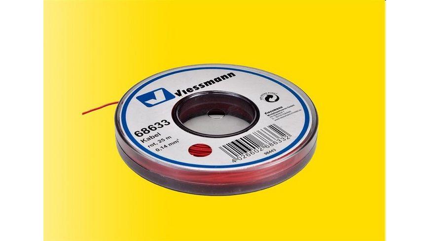 Viessmann 68633 Kabel auf Abrollspule 0 14 mm rot 25 m