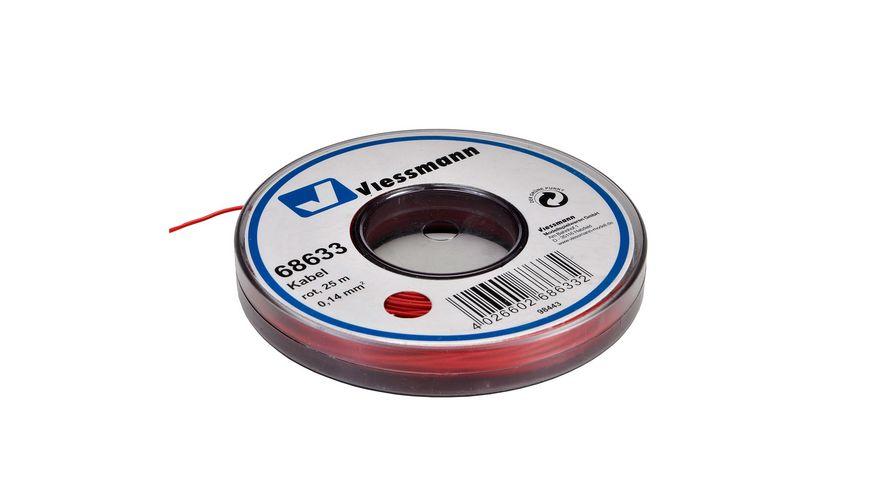 Viessmann - Kabel auf Abrollspule, 0,14 mm², rot, 25 m