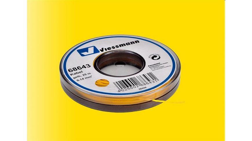 Viessmann 68643 - Kabel auf Abrollspule, 0,14 mm², gelb, 25 m