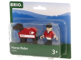 BRIO Bahn Pferd mit Reiter