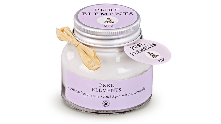 PURE ELEMENTS Hyaluron Tagescreme Anti Age mit Lotusextrakt