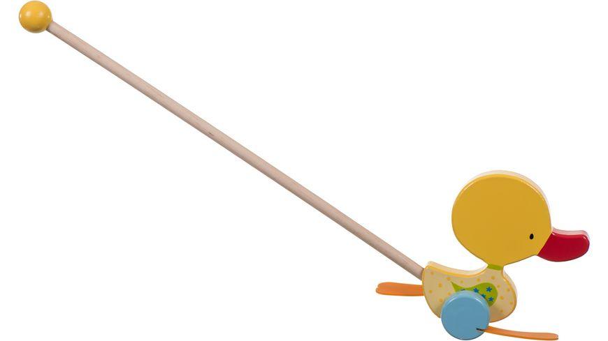 Bieco Rollerstab Watschelente gelb