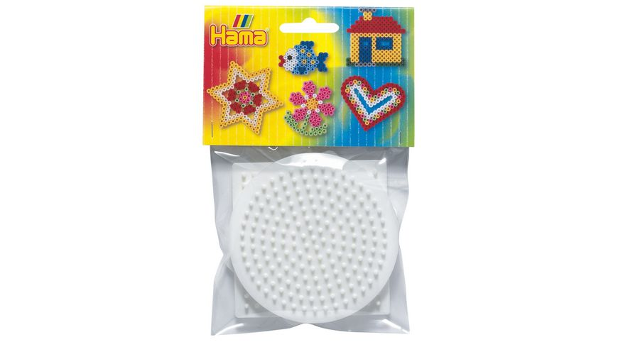 Hama - Beutel mit 3 Stiftplatten (kleines Quadrat, kleiner Kreis, kleines Sechseck)