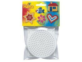 Hama Beutel mit 3 Stiftplatten kleines Quadrat kleiner Kreis kleines Sechseck