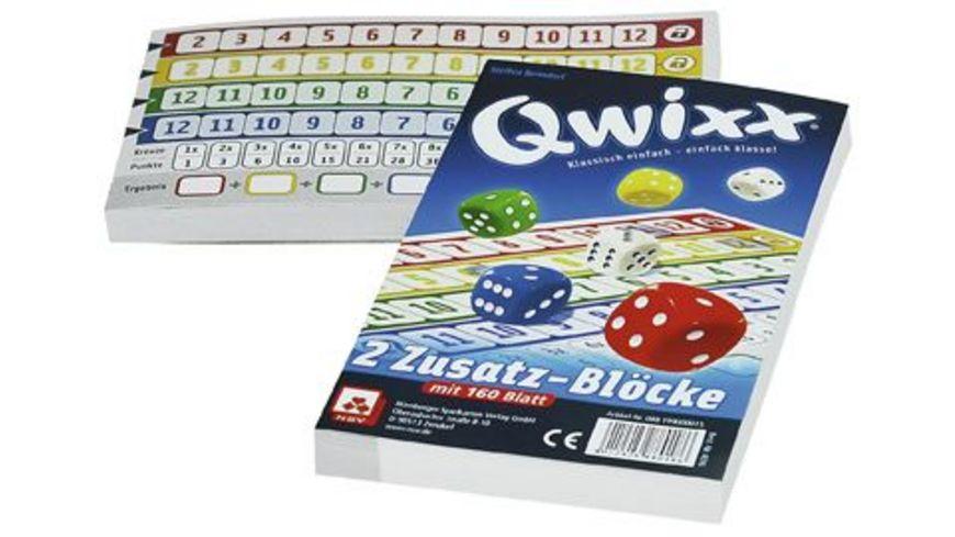 Nuernberger Spielkarten 4016 Qwixx Zusatzbloecke