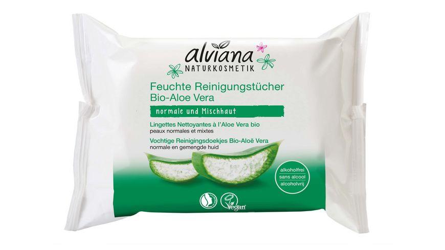 alviana Feuchte Reinigungstuecher Aloe Vera