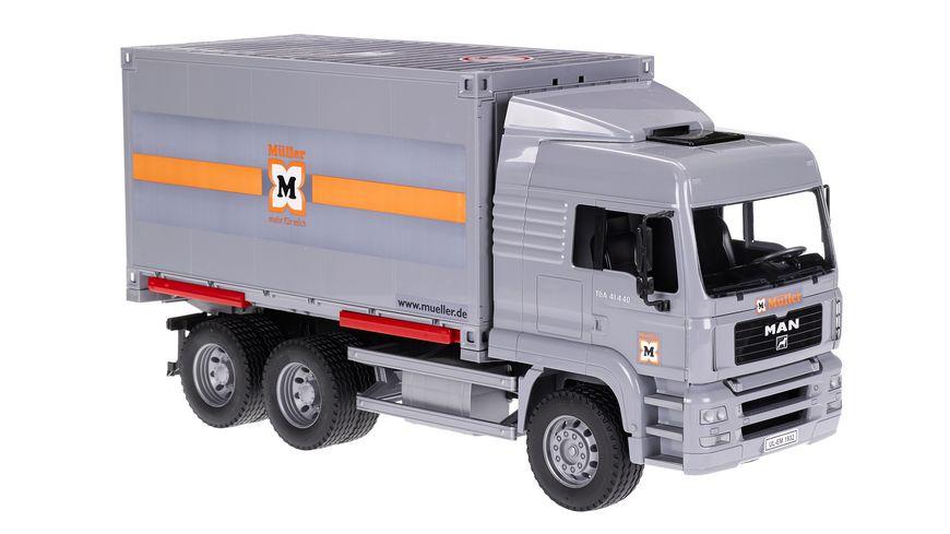 BRUDER MAN TGA LKW mit Container Wechselbruecke 09028