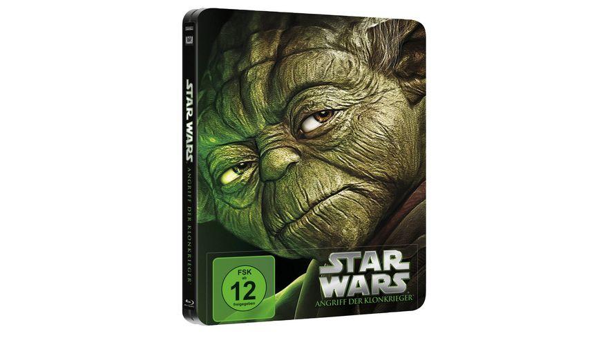 Star Wars Angriff der Klonkrieger Limited Edition Steelbook Blu ray Disc