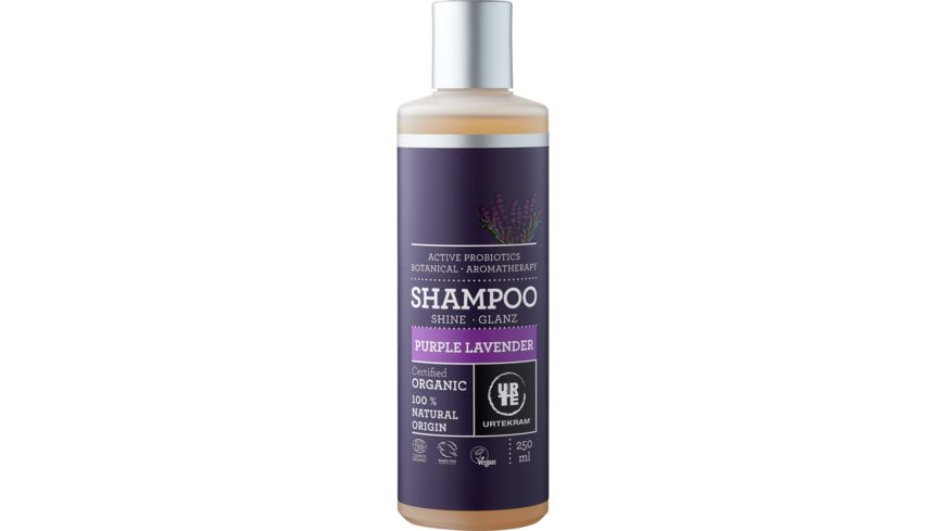 URTEKRAM Purple Lavender Shampoo Glanz Bio