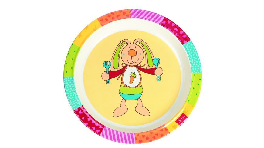 sigikid Melamin Teller Rainbow Rabbit