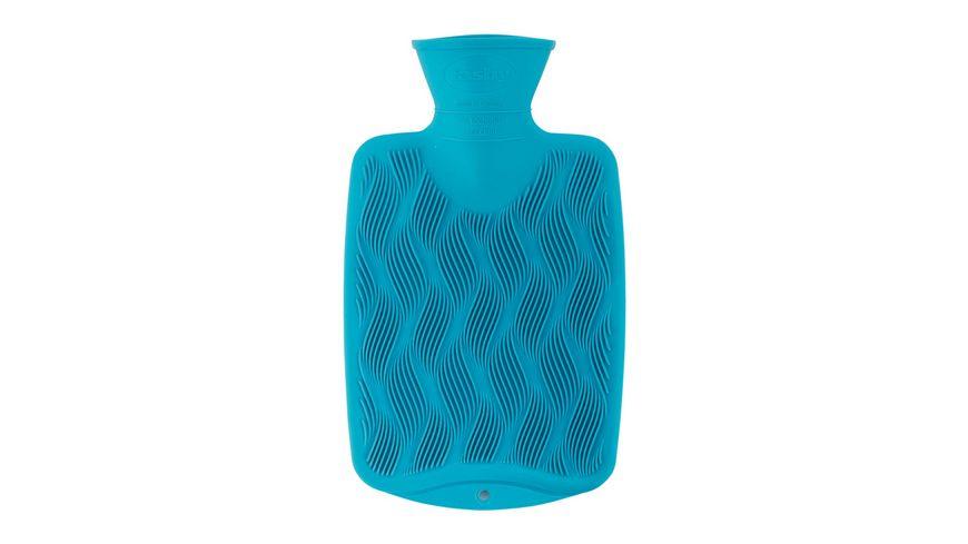 fashy Waermflasche Halblamelle 0 8 L mit 3D Oberflaeche