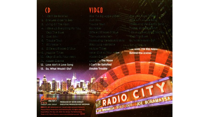 Live At Radio City Music Hall DVD CD