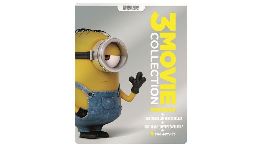 Minions 3 Movie Collection exklusives Mueller Steelbook 3 Discs Blu ray Disc
