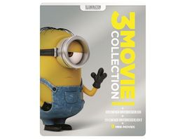 Minions 3 Movie Collection exklusives Mueller Steelbook 3 Discs Blu ray Disc