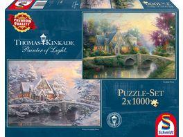 Schmidt Spiele Puzzle Lamplight Manour Winter in Lamplight Manour 1000 Teile