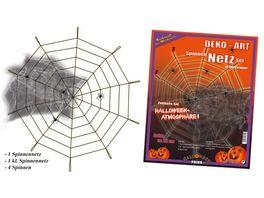 Fries Deko Set Spinnennetz ca 90 cm