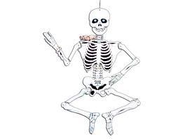 Fries Deko Skelett aus Pappe beweglich ca 140 cm Hoehe