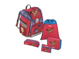 Step by Step Schulranzen Set Touch Horse Family 5 teilig